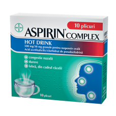 АСПИРИН КОМПЛЕКС ТОПЛА НАПИТКА 10 сашета / ASPIRIN COMPLEX HOT DRINK