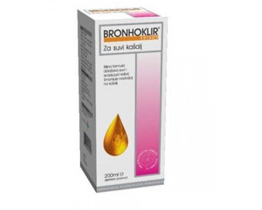 БРОНХОКЛИР сироп за суха дразнеща кашлица 200мл, BRONHOKLIR