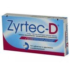 ЗИРТЕК D 14 таблетки, ZYRTEC D