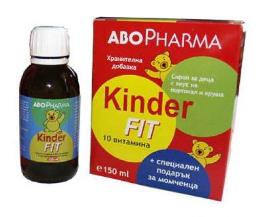 АБО ФАРМА Киндер Фит Мултивитаминен сироп за момчета 150мл. ABO Pharma KINDER FIT syrup MULTIVITAMIN