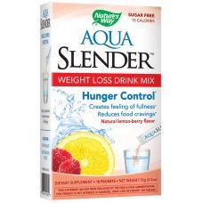 АКВА СЛЕНДЪР напитка за контрол на теглото с вкус на горски плод и лимон 10 сашети, AQUA SLENDER Weight Loss Drink Mix Lemon-Berry Flavor