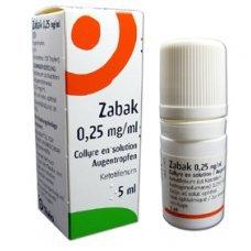 ЗАБАК противоалергични капки за очи 5мл., ZABAK eye drops