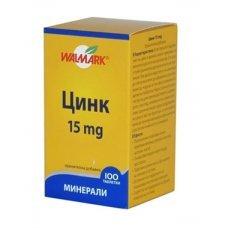ЦИНК 15мг. 100 таблетки, ZINC