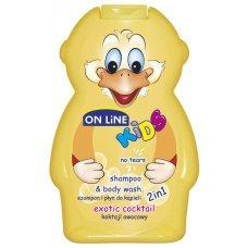 ОНЛАЙН КИДС Детски шампоан и душ гел 2 в 1 Екзотик 250 мл. ONLINE KIDS shampoo end body wash 2 in 1 Exotic