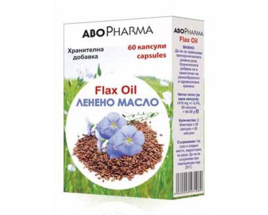 АБО ФАРМА ЛЕНЕНО МАСЛО 1000мг. 60 капсули, FLAX OIL