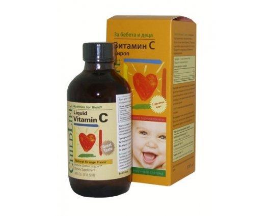 ВИТАМИН С сироп за бебета и деца 118.5 мл., VITAMIN C syrup Childlife