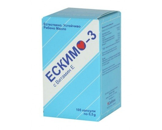 ЕСКИМО 3 естествено рибено масло 105 капсули, ESKIMO 3