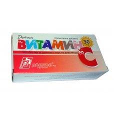 ВИТАМИН С 30 таблетки за дъвчене с вкус на горска ягода, Vitamin C