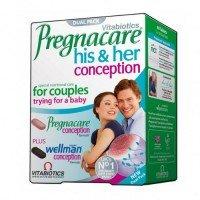 ПРЕГНАКЕЪР ЗАЧЕВАНЕ ЗА НЕГО И НЕЯ 60 таблетки, PREGNACARE HIS & HER CONCEPTION