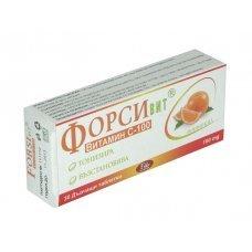ФОРСИВИТ витамин С 100мг. за дъвчене с вкус на потока 30 таблетки, FORSIVIT