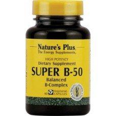 Нейчърс Плюс - Супер Б-50,60 таблетки, Nature's Plus - Super B-50 60 caps