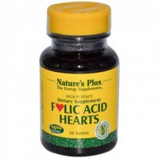 Нейчърс Плюс - Витамин Б-9 Фолиева киселина 100 мг, Nature's Plus - Vitamin B-9 Folic Acid Hearts caps