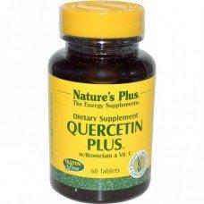 Нейчърс Плюс - Кварцетин с Бромелаин и Витамин Ц 60 таблетки Nature's Plus -  Quercetin с Bromelain и Vitamin C 60 tabs