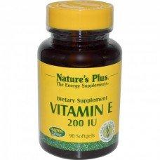 Нейчърс Плюс - Витамин Е 200 IU 90 таблетки Nature's Plus -  Vitamin E-200 IU 90 tabs