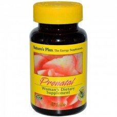 Нейчърс Плюс - Пренатал Мултивитамини за Бременни и Кърмещи 90 таблетки Nature's Plus -  Prenatal Multi-Vitamin 90 tabs