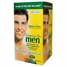 Нейчърс Плюс - Източник на живот за мъже 60 таблетки, Nature's Plus -  Source of Life Men 60 tabs