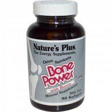 Нейчърс Плюс - Силни Кости , 90 таблетки, Nature's Plus -  Bone Power Calcium with Boron 90 Tabs
