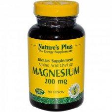 Нейчърс Плюс -Магнезий 200 мг,, 90 таблетки, Nature's Plus -  Magnesium 200 mg 90 Tabs