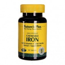 Нейчърс Плюс - Желязо 40 мг, 90 таблетки, Nature's Plus -  Iron 40 mg 90 Tabs