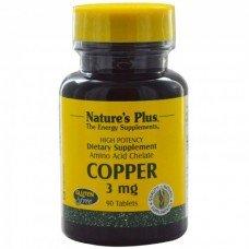 Нейчърс Плюс - Мед 3мг,, 90 таблетки, Nature's Plus -  Copper 3 mg  90 Tabs