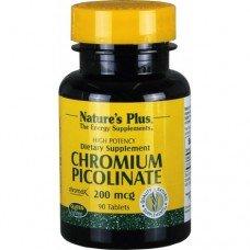 Нейчърс Плюс - Хром Пиколинат 200 мкг, 90 таблетки, Nature's Plus -   Chromium Picolinate  90 Tabs