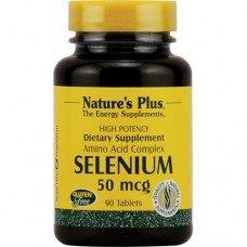 Нейчърс Плюс - Селен 50 мкг, 90 таблетки, Nature's Plus -   Selenium 50 mcg  90 Tabs