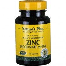 Нейчърс Плюс - Цинк Пиколинат, 90 таблетки, Nature's Plus -   Zinc Picolinate w/ Vitamin B-6 90 Tabs