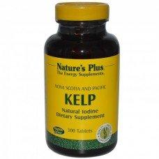 Нейчърс Плюс - Йод от Кафяви Водорасли, 300 таблетки, Nature's Plus -   KELP 300 Tabs