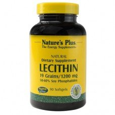 Нейчърс Плюс -Лецитин 1200 мг, 90 дражета, Nature's Plus -   Lecithin 1200 mg 90 softgels