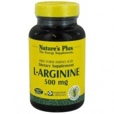Нейчърс Плюс - Л-Аргинин 500 мг, 90 В/капс,   Nature's Plus - L-Arginine 500 mg 90 Vcaps