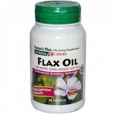 Нейчърс Плюс -Ленено Масло1300 mg 30 дражета,   Nature's Plus -Flax Oil 1300 mg 30 Softgels
