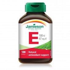 ДЖЕЙМИСЪН - Витамин Е 100 IU  100 капсули  , JAMIESON -  Vitamin E 100 Caps.