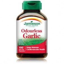ДЖЕЙМИСЪН -Екстракт от чесън без остатъчен мирис 500 mg 100 капсули  , JAMIESON -  Odourless Garlik 100 Caps.