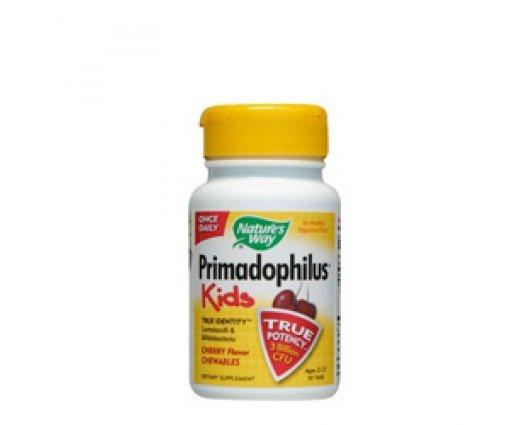 Нейчърс Уей  - Примадофилус – пробиотици за деца с вкус на череша 68mg, 30 таблетки, Nature's Way  Primadophilus Kids