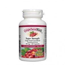 Нейчъръл Факторс  - Гроздово семе 50 mg, 60 капсули, Natural Factors - Grape Seed Rich
