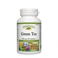 Нейчъръл Факторс  -Зелен чай 300 mg  60 капсули, Natural Factors - Green Tea