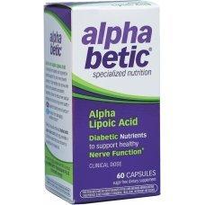 АЛФА БЕТИК Алфа Липоева киселина за диабетици 200 mg 60 капсули, ALPHA BETIC Alpha Lipoic Acid