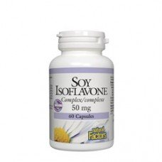 Нейчъръл Факторс  - Соя изофлавони комплекс 50 mg  60 капсули , Natural Factors  Soy Isoflavone