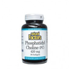 Нейчъръл Факторс  - Фосфатидилхолин 420 mg  90  софтгел капсули , Natural Factors  Phosphatidyl Choline