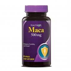 Natrol Maca 500mg  60 caps, Стимулира плодовитостта