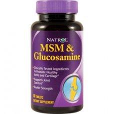Natrol MSM/Glucosamine Double Strength 90 tabs , Облекчава дискомфорта в ставите и мускулите