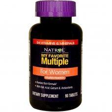 Natrol My Favorite Multiple Women 90 tabs, 23 витамина и минерала - за жени
