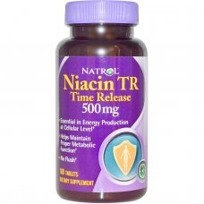 Natrol Niacin 500mg - Time Release 100 tabs , Подпомага метаболизма