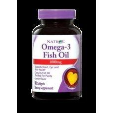 Natrol Omega-3 Fish Oil 1000mg 90 softgels , Намалява риска от сърдечно-съдови заболявания