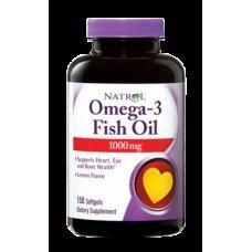 Natrol Omega-3 Fish Oil 1000mg 150 softgels , Намалява риска от сърдечно-съдови заболявания