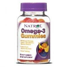 Natrol Omega-3 Gummies 60 gummies, Намалява риска от сърдечно-съдови заболявания