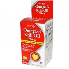 Natrol Omega-3 Krill Oil 500 mg 30 softgels, Поддържа нивата на холестерол в норма