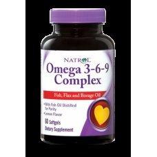 Natrol Omega 3-6-9 Complex 60 softgels, Пълен комплекс Омега мастни аминокиселини
