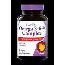 Natrol Omega 3-6-9 Complex 90 softgels, Пълен комплекс Омега мастни аминокиселини