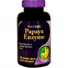 Natrol Papaya Enzime 100 chew tabs, Поддържат здрав храносмилателен тракт